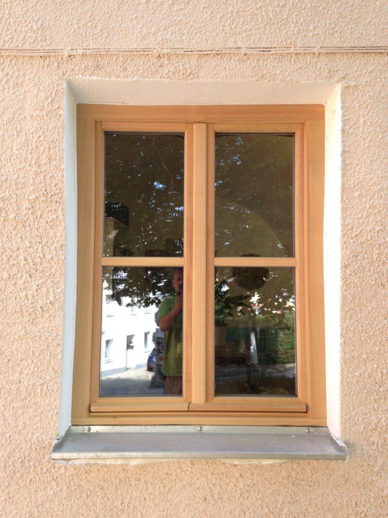 Denkmalschutz Fenster in Lärche mit Spossen
