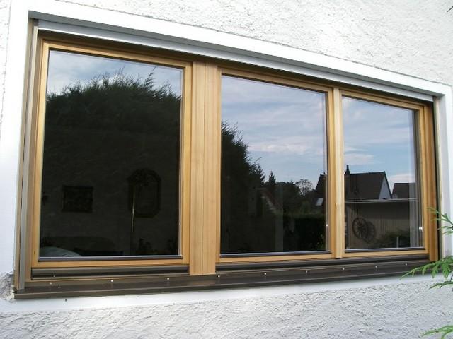 Holzfenster in Lärche 3flg natur geölt Aussenseite