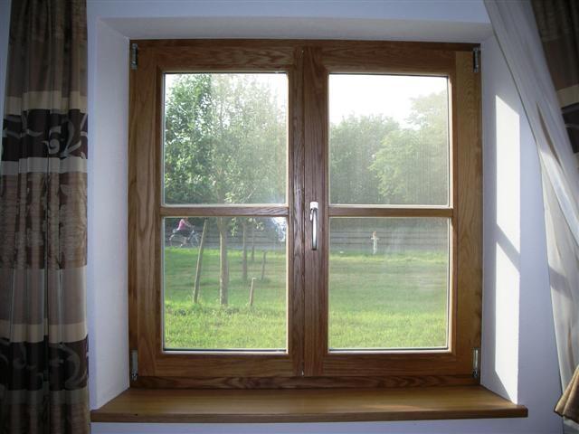 Fenster in Eiche natur geölt Innenseite