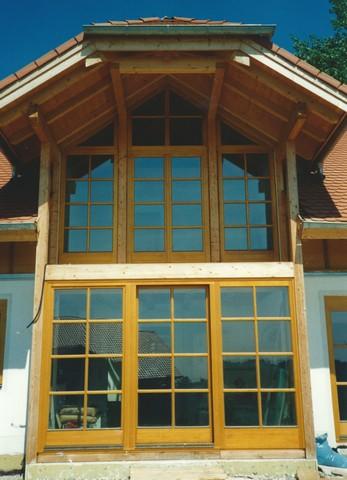 Terrassen Balkon Türen in Fichte mit Spitzelement
