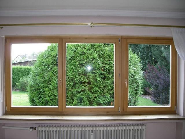 Holzfenster in Lärche 3flg natur geölt Innenseite