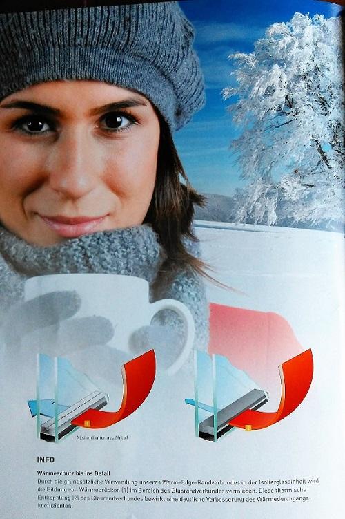Wärmeschutz-Glas warme Kante