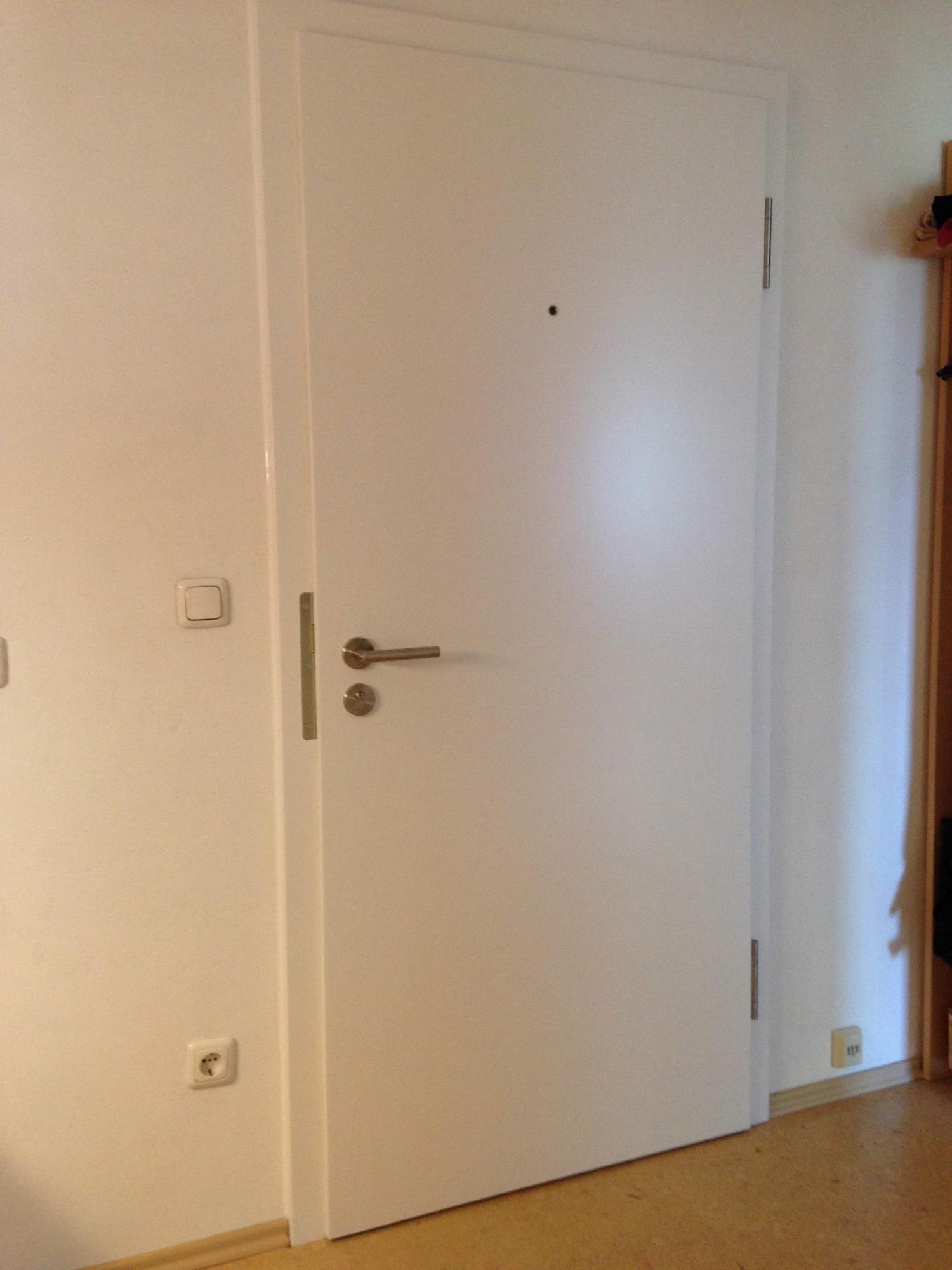 Wohungseingangtüre Innen weiß